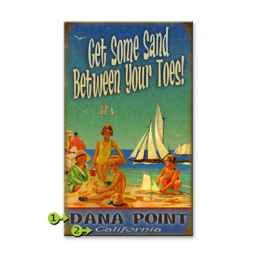 get some sand between your toes customizable wood sign
