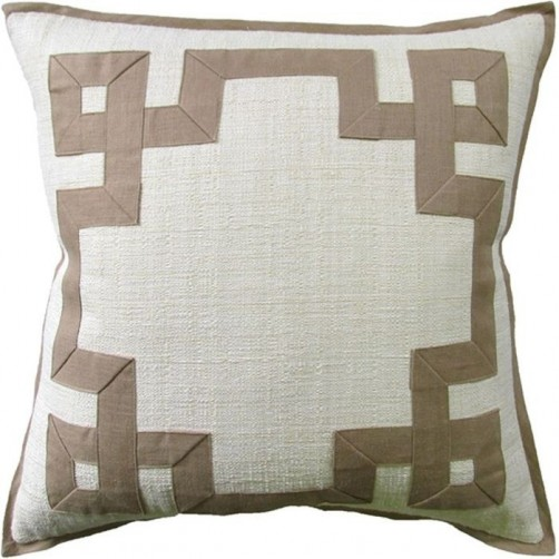 raffia cream fretwork pillow