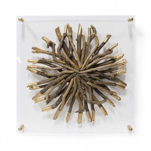 acrylic driftwood wall decor-round