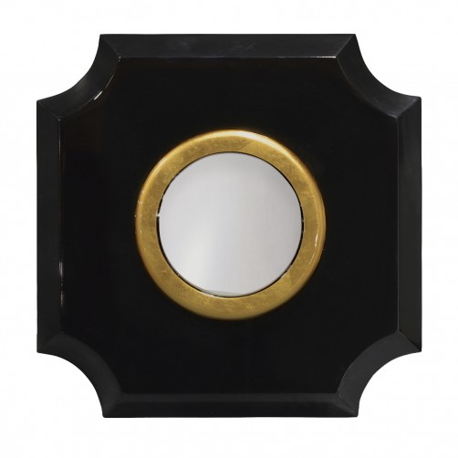 palecek andaz mirror, black