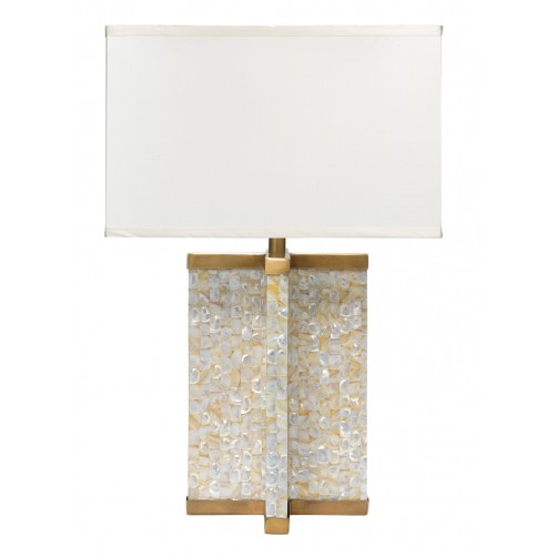jamie young axis table lamp w/ medium rectangle shade