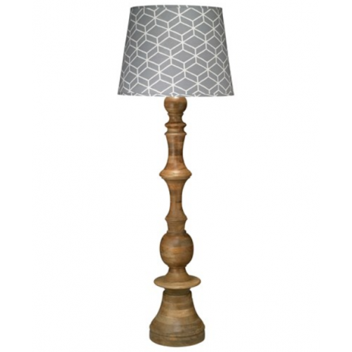 jamie young budapest floor lamp w/ extra large open cone shade