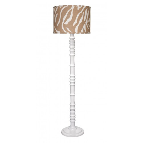 jamie young longshan floor lamp w/ large drum shade