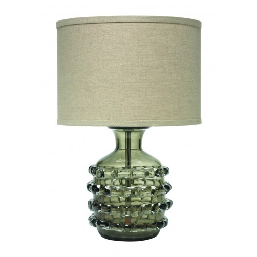 jamie young ribbon table lamp w/ drum shade