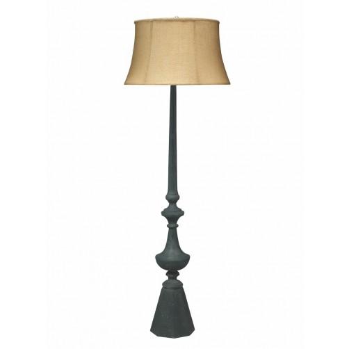 jamie young zenith floor lamp w/ natural burlap hourglass shade