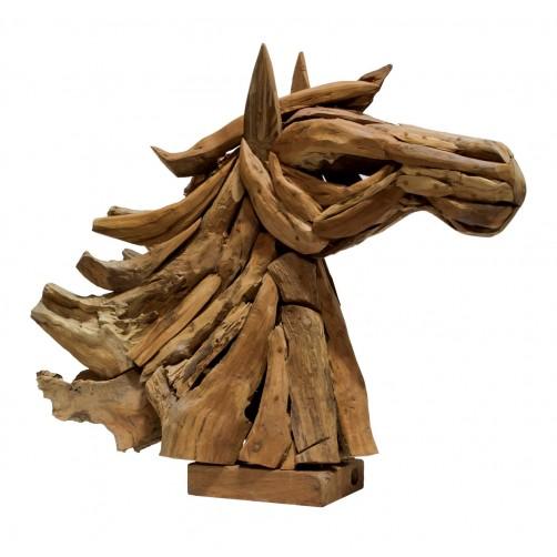 palecek driftwood horse head