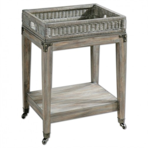 uttermost davaughn serving cart