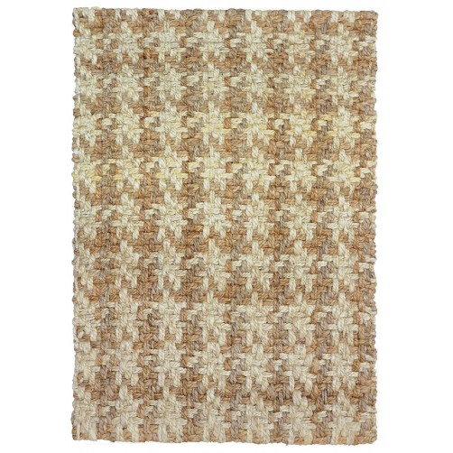 houndstooth bleach natural jute rug