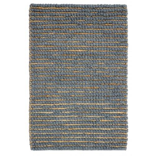 slate wool jute rug