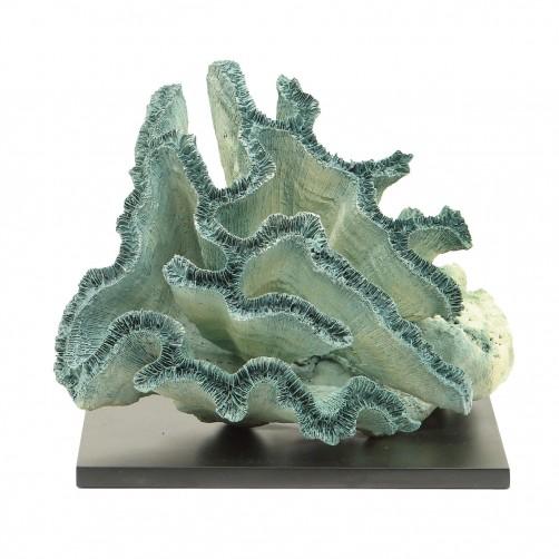 palecek blue broach coral