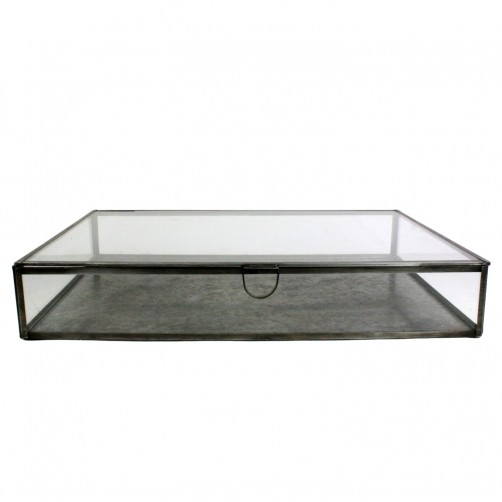 homart pierre rectangular leaded glass case, large