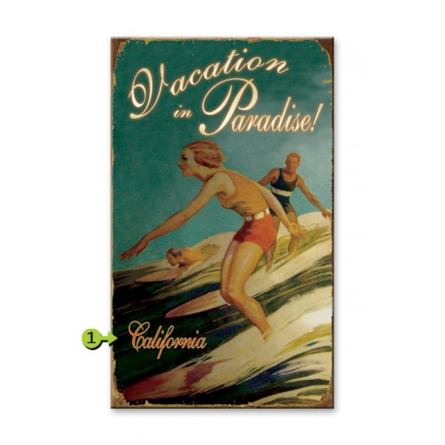 vacation in paradise customizable wood sign