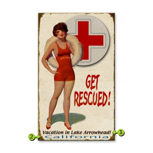 get rescued customizable wood sign