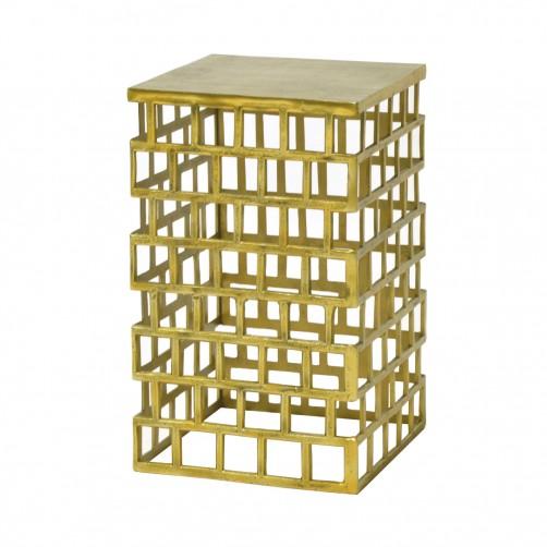 palecek emmet side table, gold