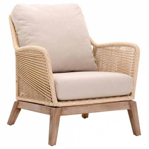 sand rope loom club chair
