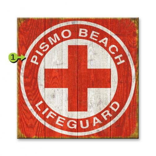 lifeguard customizable wood sign