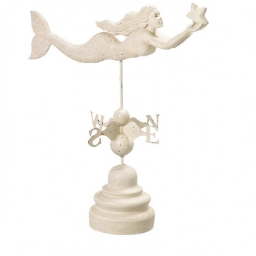mermaid w/ star weather vane