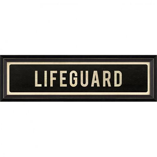 """""""lifeguard"""" street sign"""