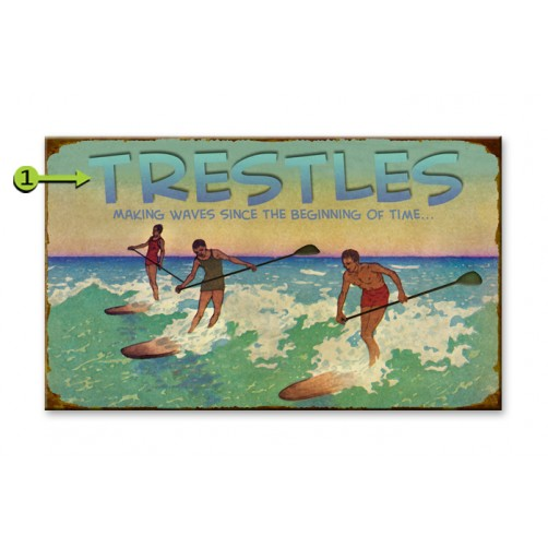 making waves customizable wood sign