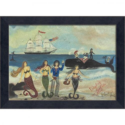 """""""tailgating on surfside"""" mermaid art"""
