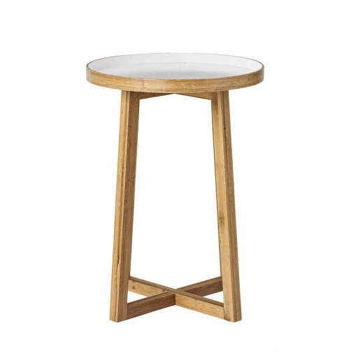 natural & white bamboo table