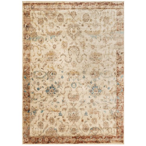 anastasia collection ant ivory & rust rug