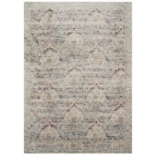 anastasia collection silver & plum rug