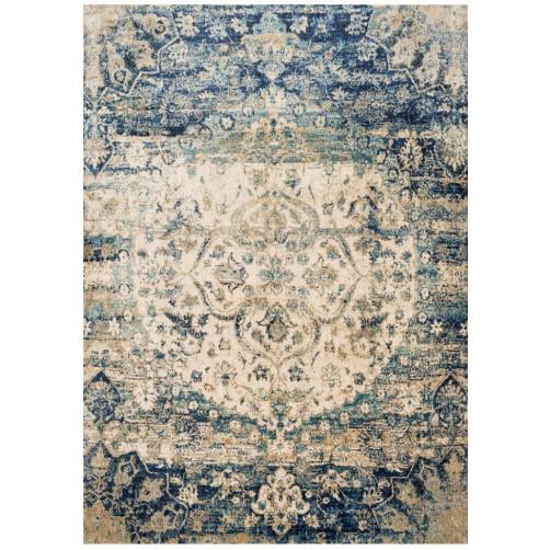 anastasia collection blue & ivory rug