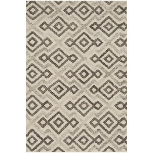 akina collection ivory & grey rug