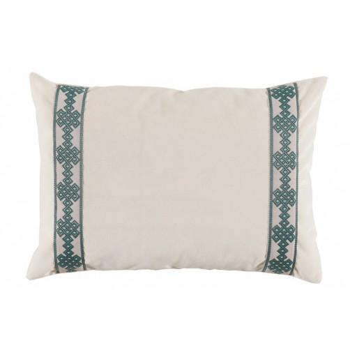 lacefield fleece velvet with amalfi tape lumbar pillow