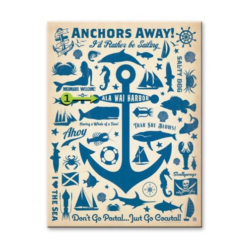 anchors away customizable wood sign