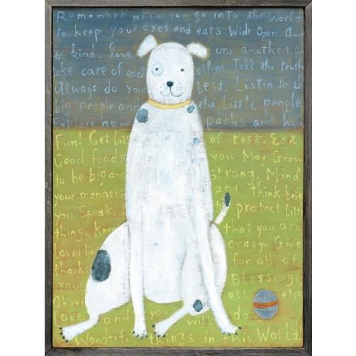 white boy dog art print
