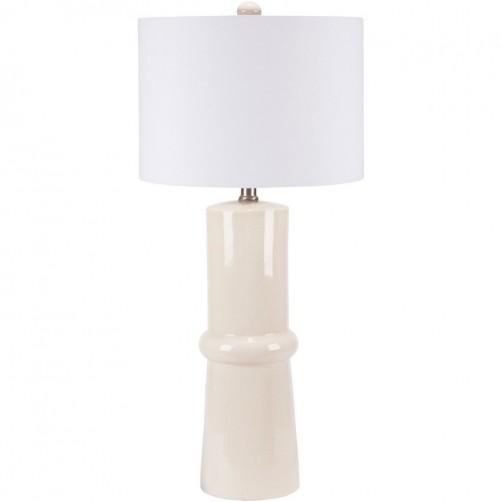surya ava cream table lamp