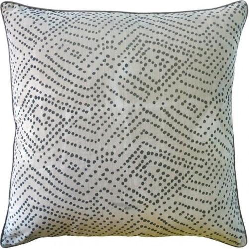 batik dot pewter pillow