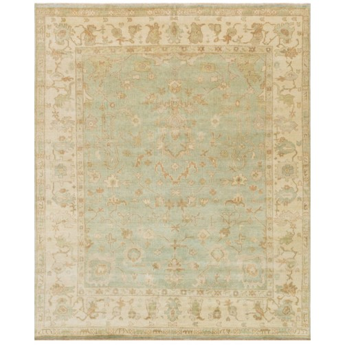 bogart collection aqua & ivory rug