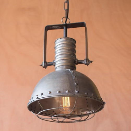 large metal pendant w/ cage