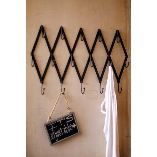 flat iron adjustable scissor coat rack
