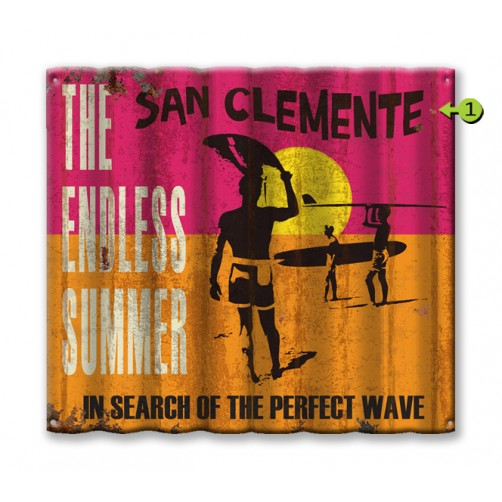the endless summer customizable corrugated metal sign