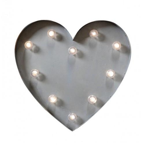 metal heart wall lamp