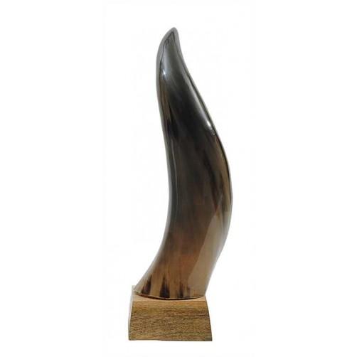 """18"""" horn on mango wood base"""