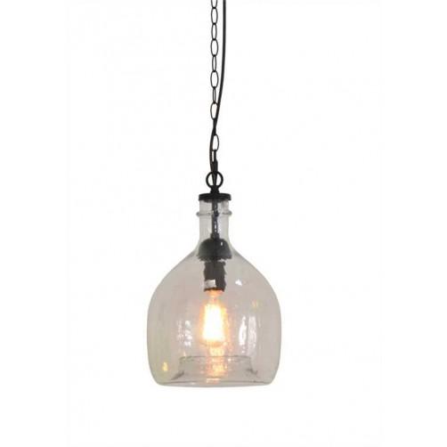 oversized glass pendant