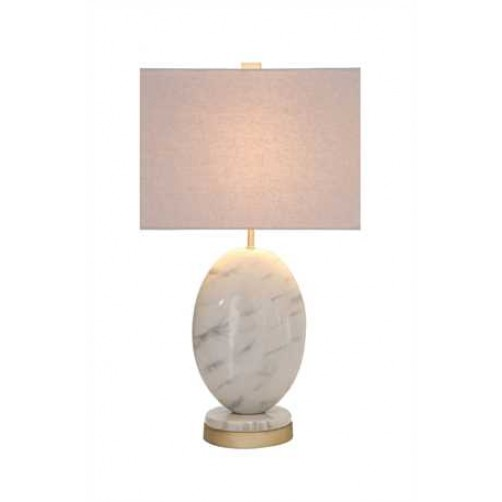 marble finish table lamp
