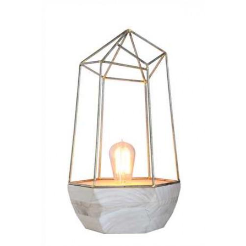 wood & metal table lamp