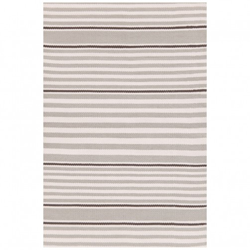 dash & albert beckham stripe platinum indoor/outdoor rug