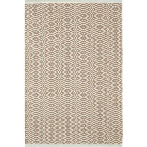 dash & albert fair isle ocean / coffee cotton woven rug