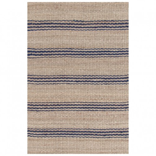 dash & albert jute ticking indigo woven rug