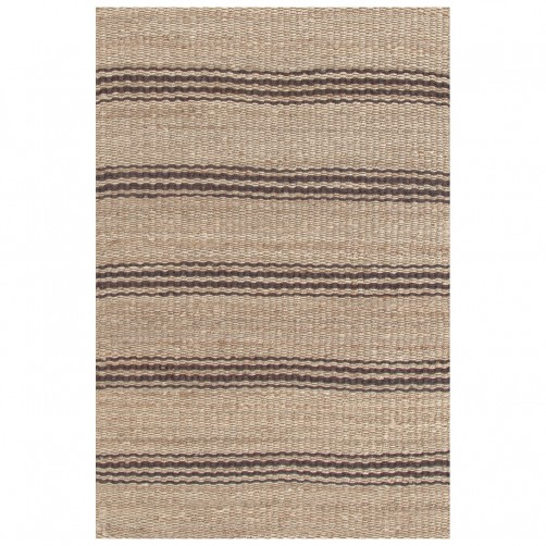 dash & albert jute ticking java woven rug