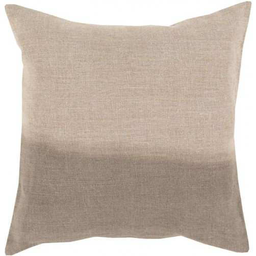 surya dip dyed pillow in taupe
