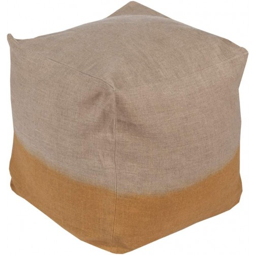 surya dip dyed pouf in tan