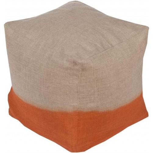 surya dip dyed pouf in burnt orange
